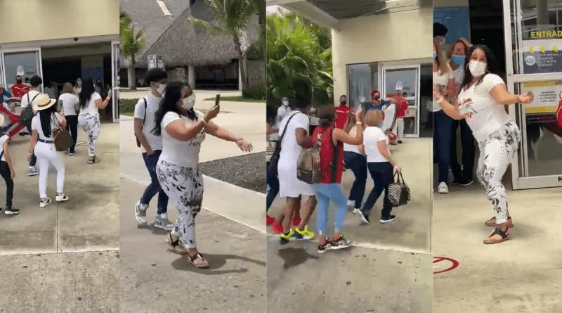 Cubanos cantan y bailan en el avión que los lleva a Punta Cana