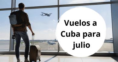 Listado de vuelos autorizados en Cuba para el mes de julio