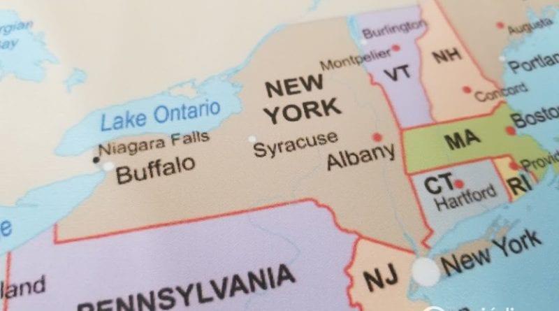 Mapa con ciudades de Estados Unidos