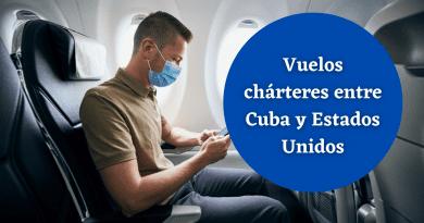 Vuelos chárteres entre Cuba y Estados Unidos para septiembre