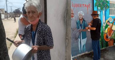 Reúnen donaciones para abuela cubana que protesta en Cuba