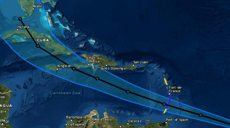 Tormenta tropical ELSA avanza rápidamente hacia Cuba